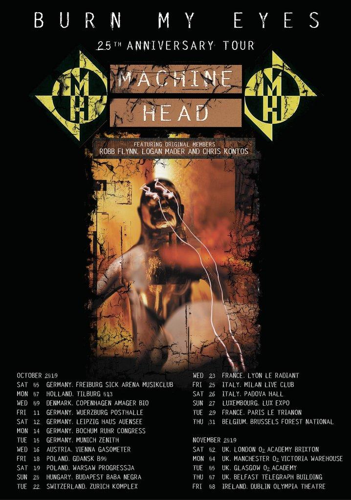 """Machine Head Announce """"Burn My Eyes"""" 25th Anniversary Tour"""