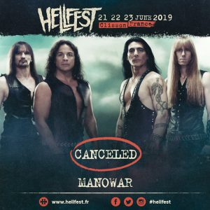 MANOWAR canceled their HELLFEST appearance!