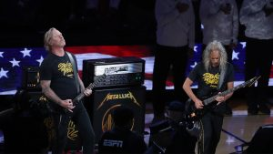 METALLICA Played the National  Anthem at NBA Finals
