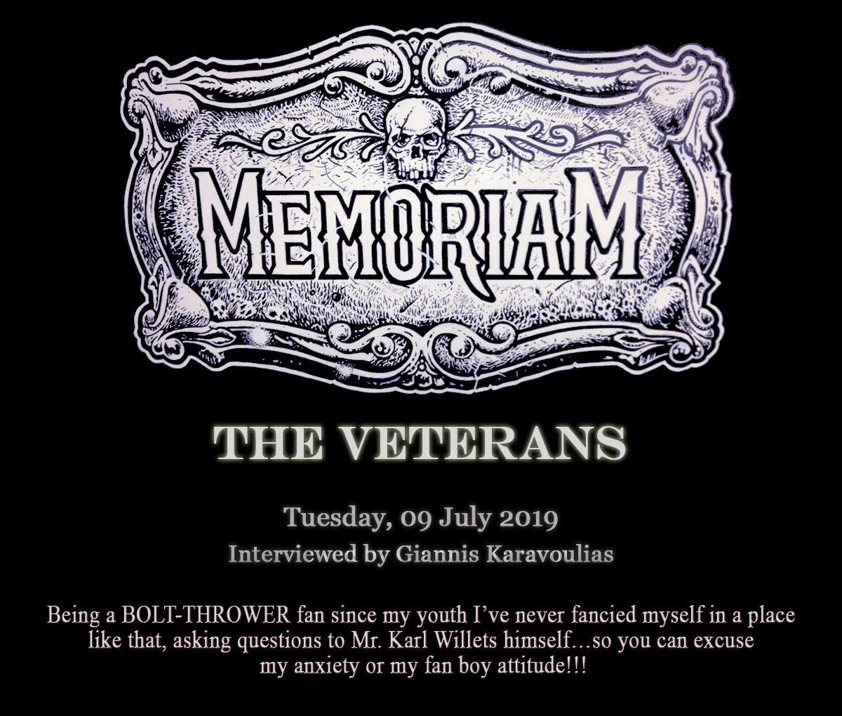 Memoriam – The Veterans