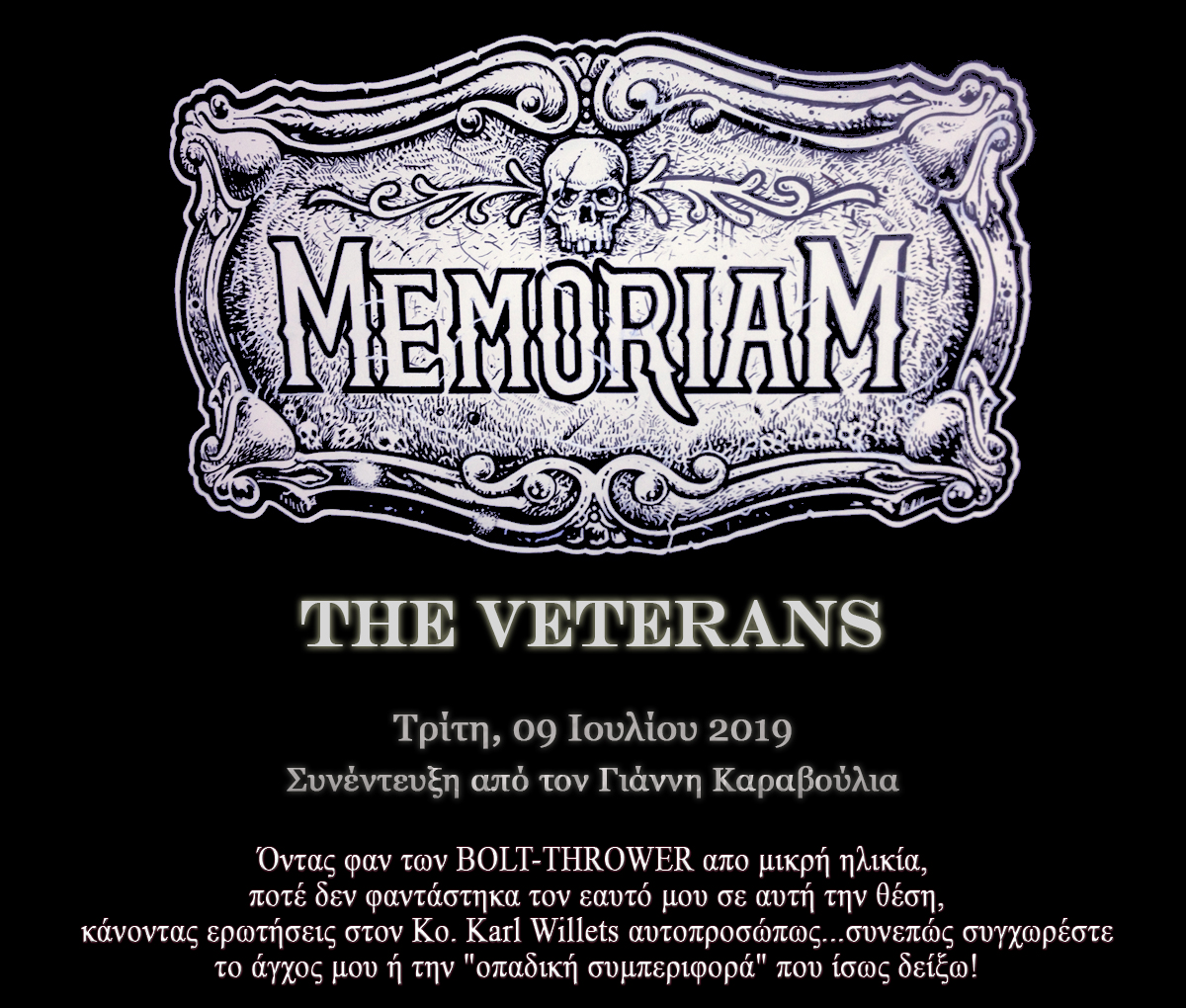 "Memoriam, ""The Veterans"""