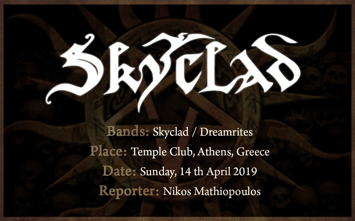 Skyclad (14/04/2019, Athens / Greece)