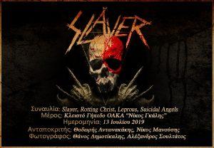 Slayer, Rotting Christ, Leprous, Suicidal Angels (Αθήνα, Ελλάδα – 13/07/2019)