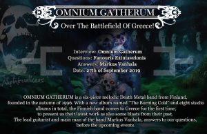 "Omnium Gatherum, ""Over The Battlefield Of Greece!"""