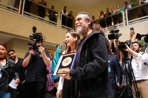Tom Araya Of SLAYER received recognizing by Congress of Chile!!