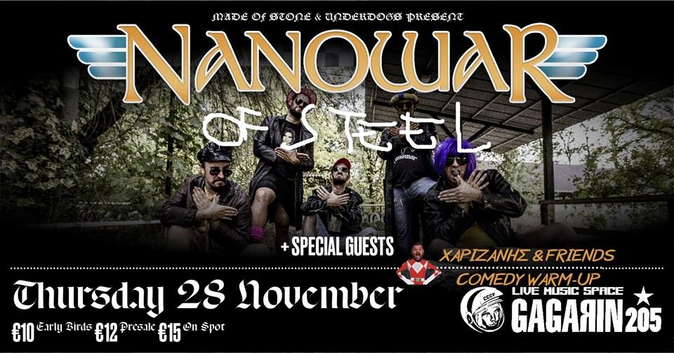 Nanowar of Steel [IT] live in Athens!
