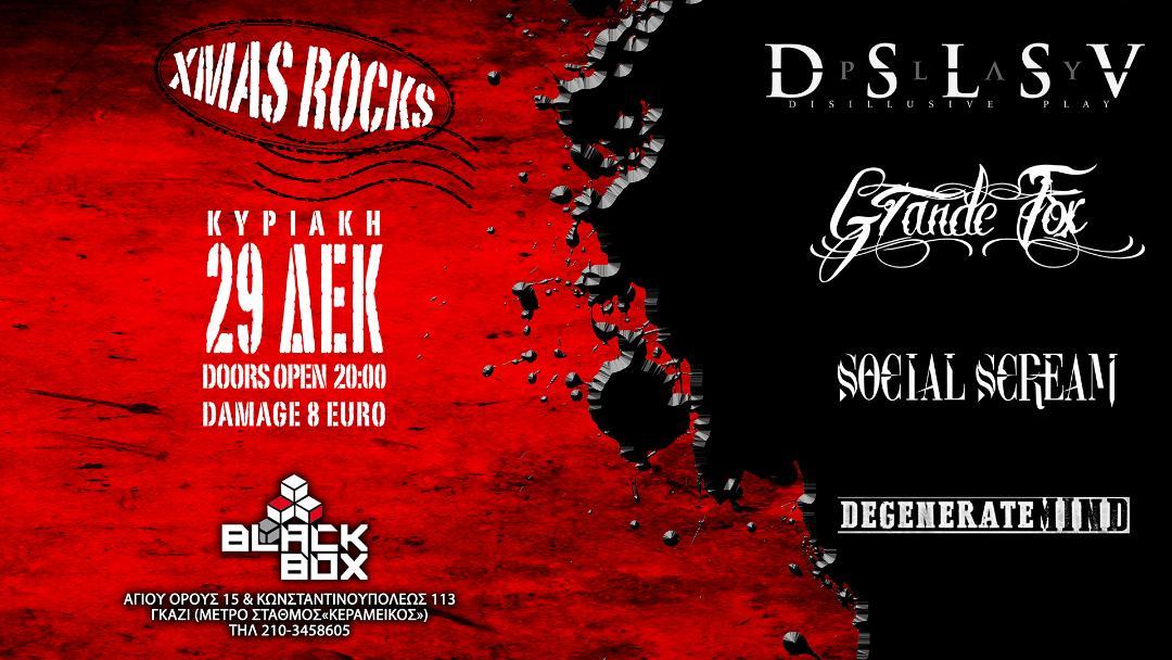 Disillusive Play/Grande Fox/Social Scream/Degenerate Mind Live στο Black Box! – Κυριακή 29 Δεκεμβρίου