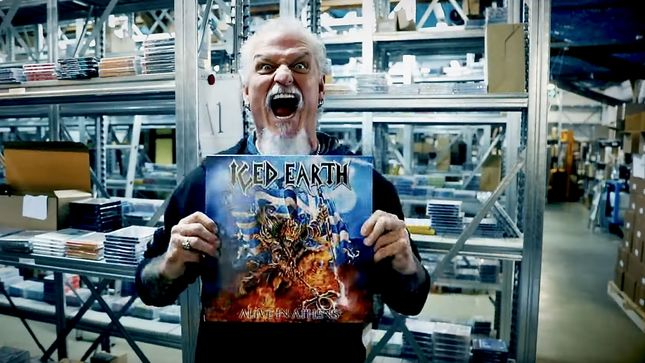 ICED EARTH Guitarist JON SCHAFFER unboxes 20th Anniversary vinyl edition of 'Alive In Athens'!
