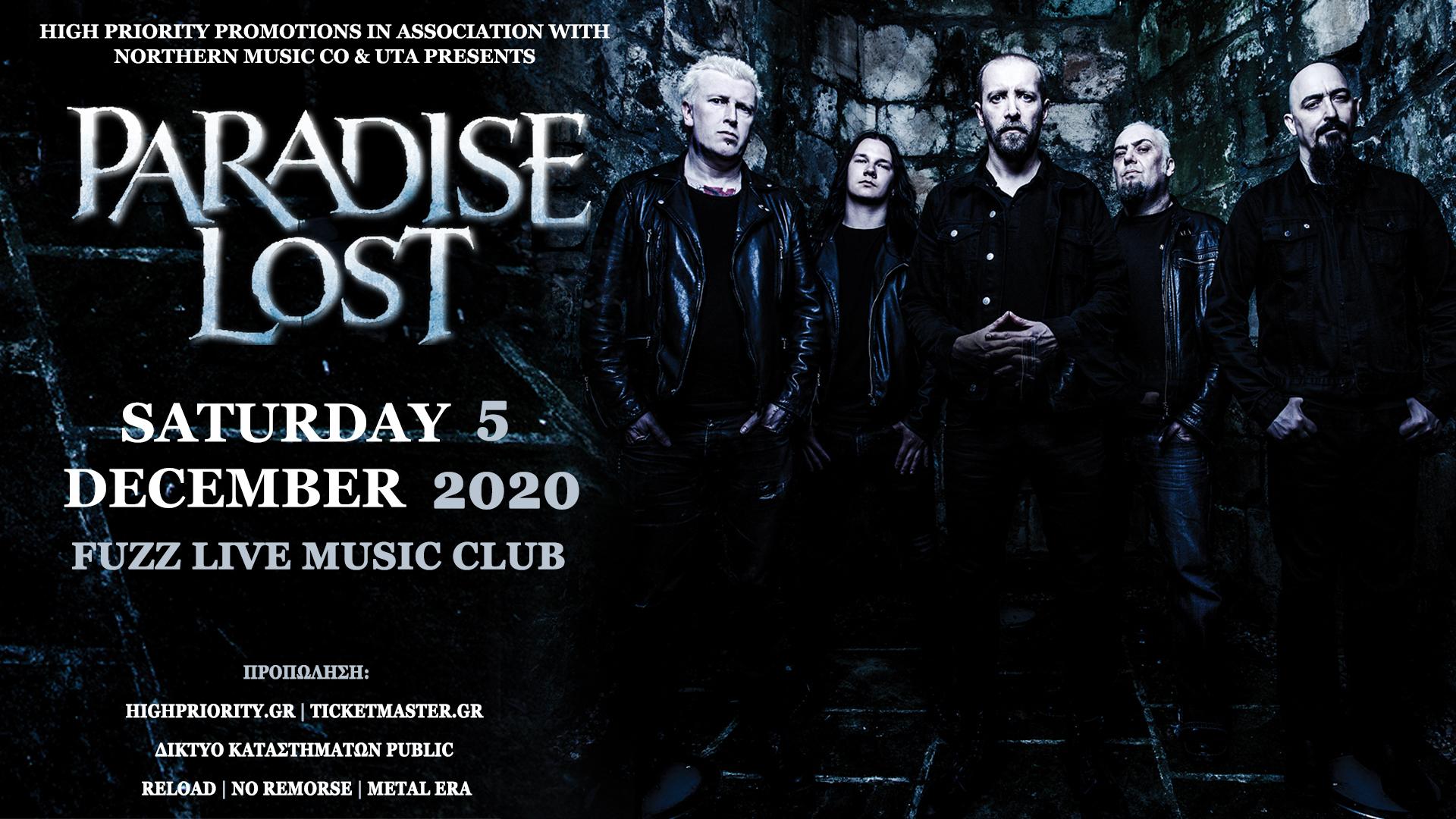 Οι PARADISE LOST επιστρέφουν το 2020 στην Αθήνα!