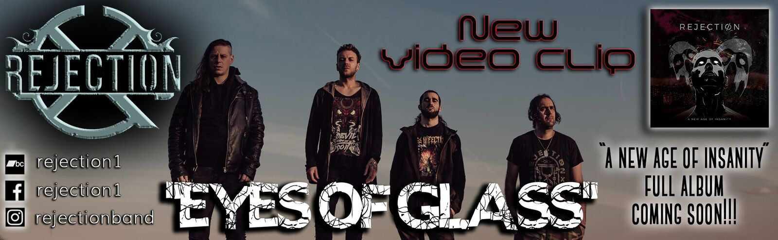 REJECTION – 'EYES OF GLASS' new official videoclip