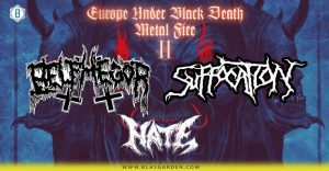 SUFFOCATION/BELPHEGOR/HATE ζωντανά στην Αθήνα στις 5 Μαρτίου 2020!!!