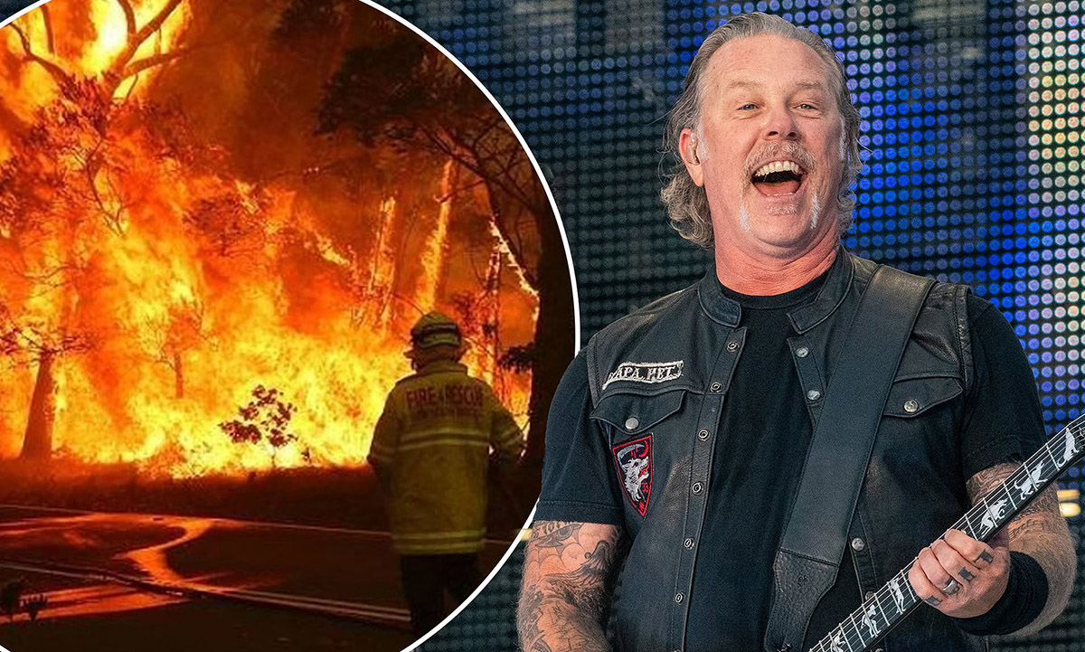 METALLICA donates more than 500.000 USD to Australian wildfire relief efforts!!