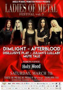 LADIES OF METAL FESTIVAL vol.3 –  Σάββατο 7 Μαρτίου 2020 @ Ηοlywood live stage, Αθήνα!