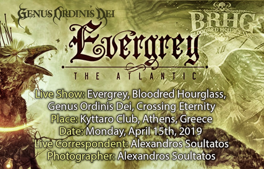 Evergrey, Bloodred Hourglass, Genus Ordinis Dei, Crossing Eternity (Athens, Greece – 15/04/2019)