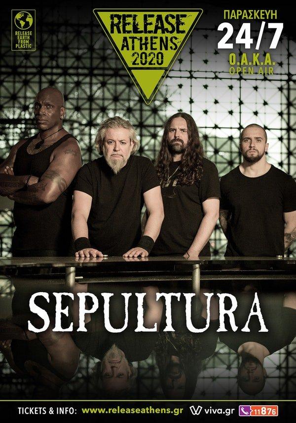 Οι SEPULTURA σε Αθήνα και Θεσσαλονίκη τον Ιούλιο!!