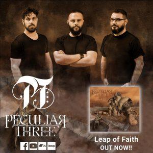 """PECULIAR THREE – single """"The Sentient"""" από το άλμπουμ """"Leap of Faith""""."""