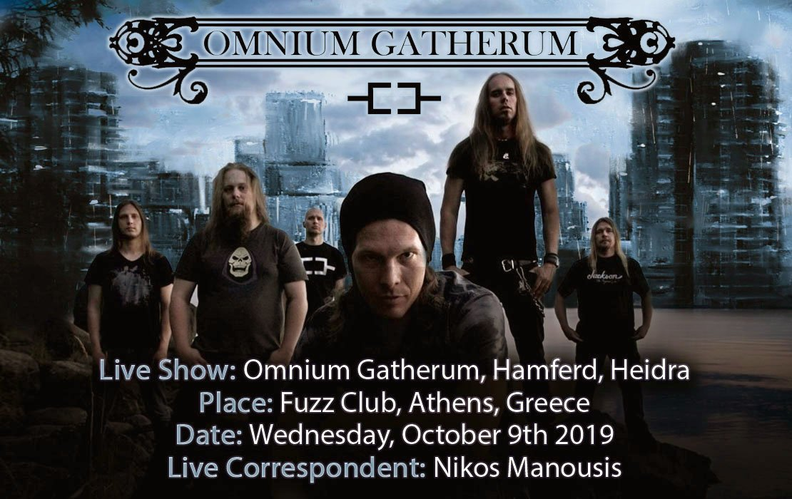 Omnium Gatherum, Hamferd, Heidra (Athens, Greece – 09/10/19)