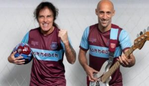 New away jersey for West Ham with the IRON MAIDEN logo!