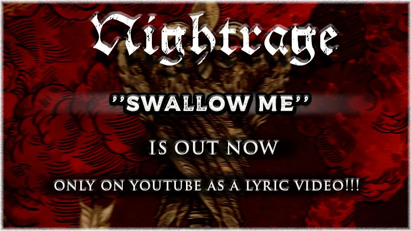 """Νέο τραγούδι από τους NIGHTRAGE για το νέο τους single """"Swallow Me""""!"""