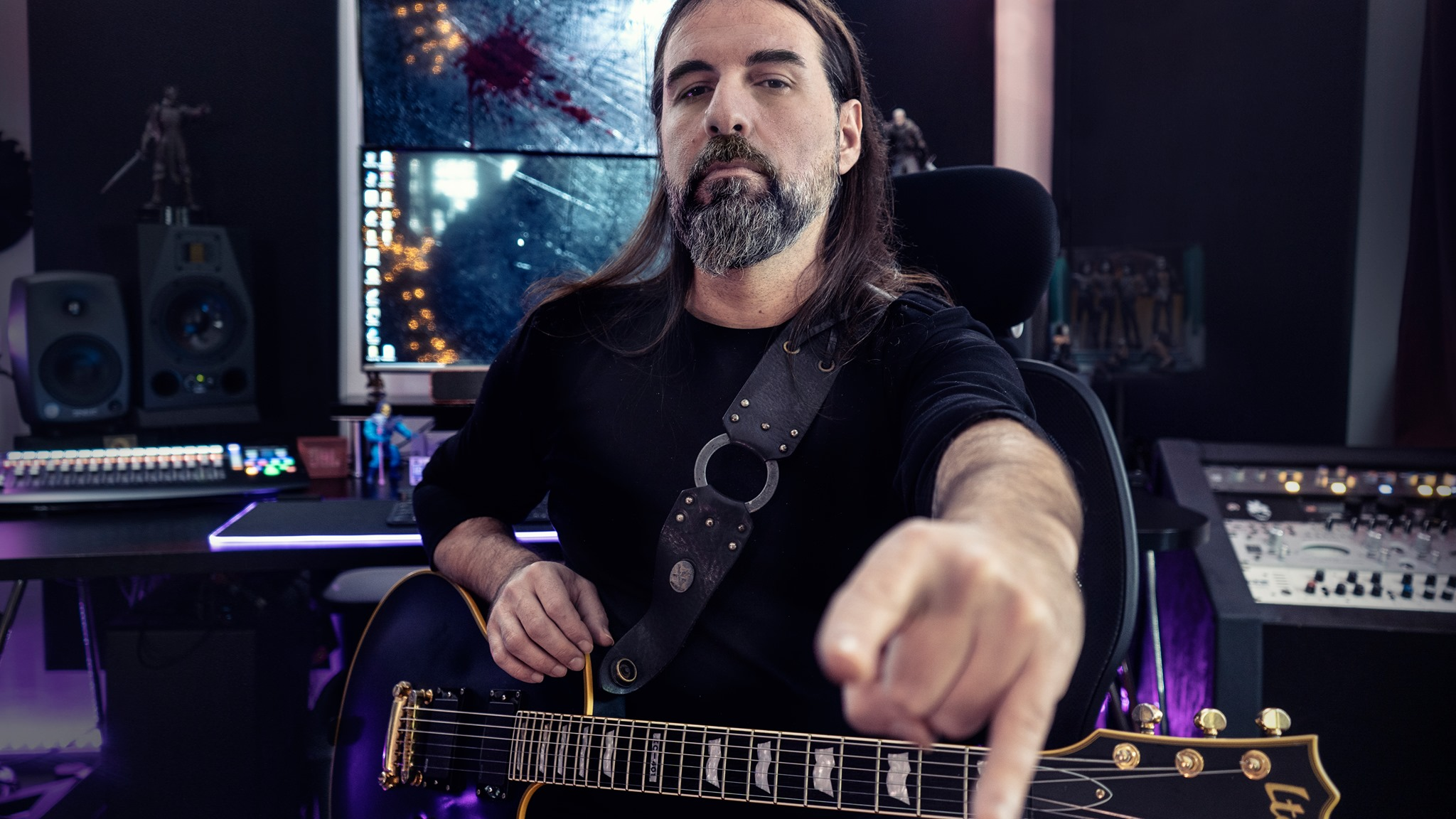 Sakis Tolis (ROTTING CHRIST): Recording Guitars For His One Man Band Solo Project.
